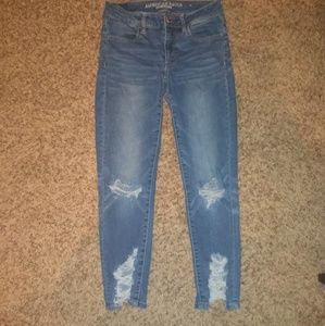 Light Blue Ripped AEO Jeans